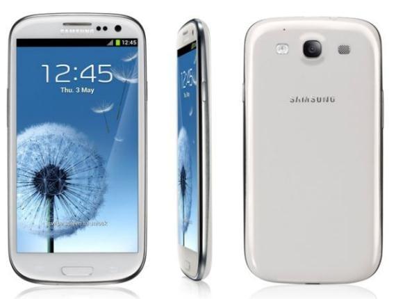 Samsung Galaxy S3 Blanco de todos los perfiles