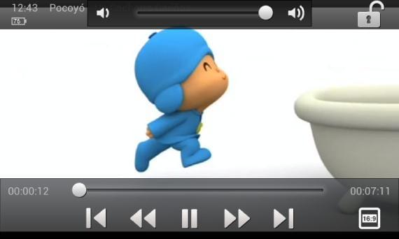 Reproduciendo un vídeo de la tarjeta de memoria