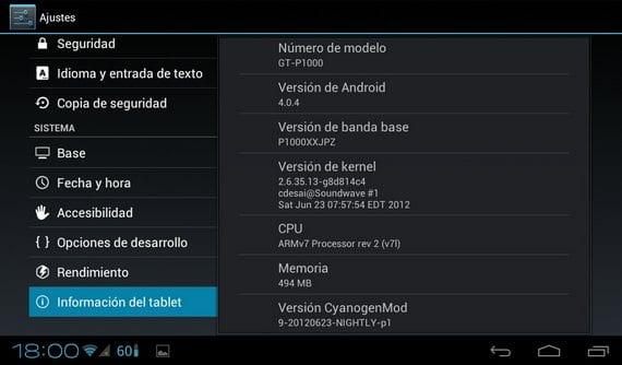 "Android 4.0.4 en Samsung Galaxy Tab 7"""