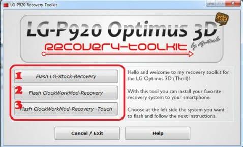 Recovery en LG Optimus 3D