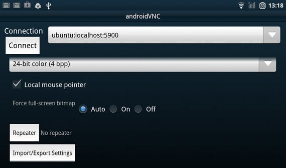 VNCviewer configuración