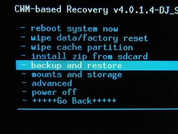 Recovery nandroid backup