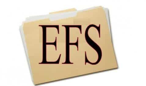 Cómo hacer copia de seguridad de la carpeta EFS