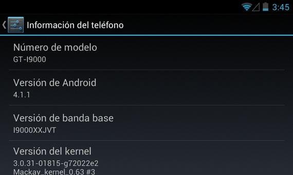 Samsung Galaxy S, MackayRom V1.2.3 Android 4.1.1