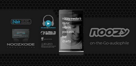 NOOZY Audio Player, espectacular reproductor multimédia para Android