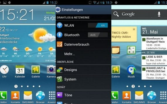 Samsung Galaxy S, TouchWiz Launcher del Galaxy S3
