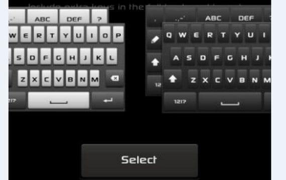 Teclado estilo Xperia para el Samsung Galaxy S