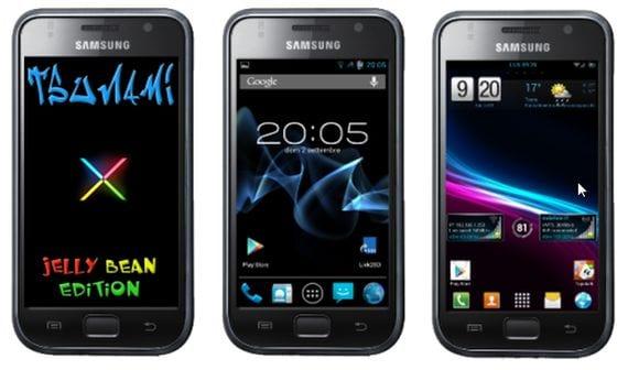 Tsunami X2.5, actualización para Samsung Galaxy S