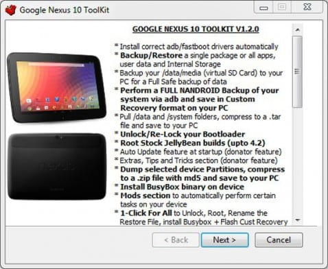Nexus 10 Toolkit ya disponible en XDA