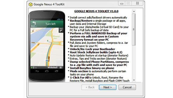 Nexus 4 Toolkit V1.0 herramienta todo en uno