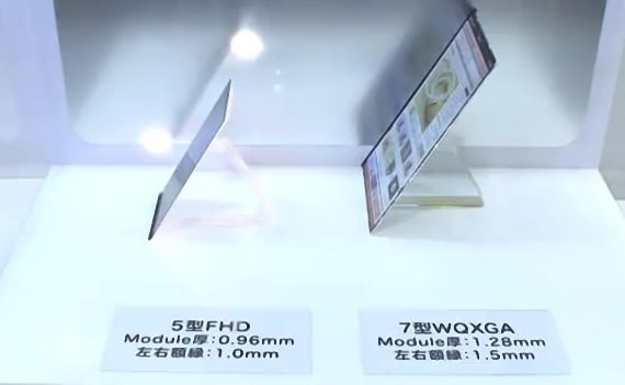 Nueva tecnología de pantallas ultradelgadas se preparan para los móviles