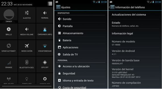 Samsung Galaxy S, Rom oficial Android 4.2.1 Alpha 2 by Elitemovil