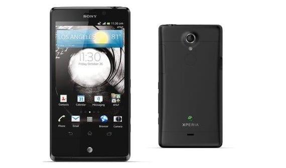 El Sony Xperia TL funcionando con Android 4.1.2