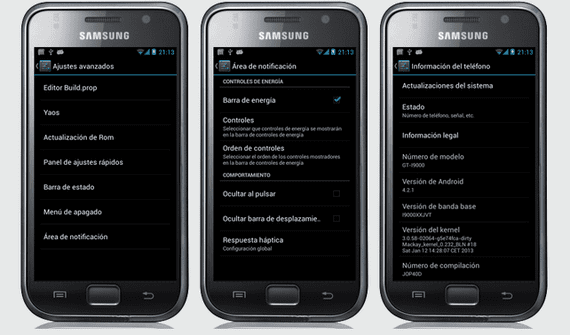 Samsung Galaxy S, Rom Android 4.2.1 port del Nexus S RC1 by Elitemovil