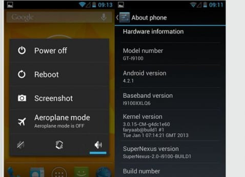 Samsung Galaxy S2, Rom SuoperNexus V2.0 build 1 Android 4.2.1