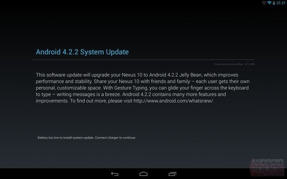 Android 4.2.2 comienza a llegar vía OTA a los Nexus
