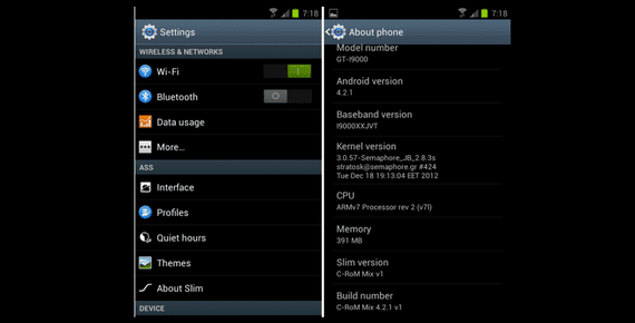 Samsung Galaxy S, CRom Mix V6 Android 4.2.1