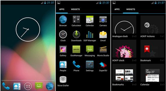 Vanilla RootBox Android 4.2.2 port para el Samsung Galaxy S