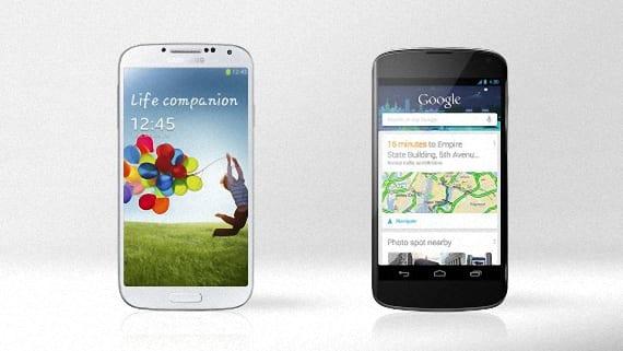Nexus 4 o Samsung Galaxy S4 01
