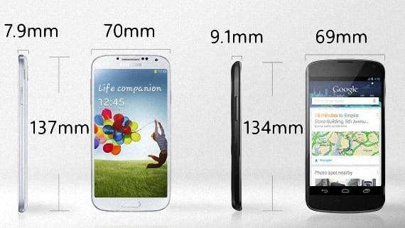 Nexus 4 o Samsung Galaxy S4 02