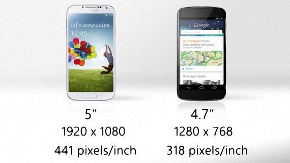 Nexus 4 o Samsung Galaxy S4 05