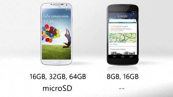 Nexus 4 o Samsung Galaxy S4 06