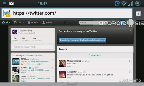Cómo ver Twitter en modo PC desde tu dispositivo móvil