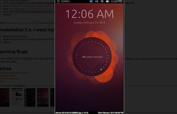 Samsung Galaxy S, primera Rom de Ubuntu OS