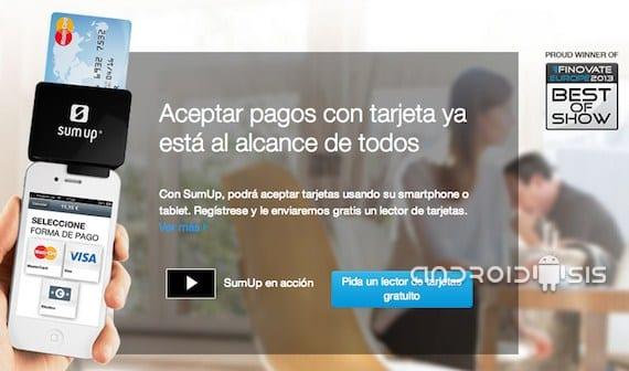 SumUp aplicación para recibir pagos con tarjeta de crédito