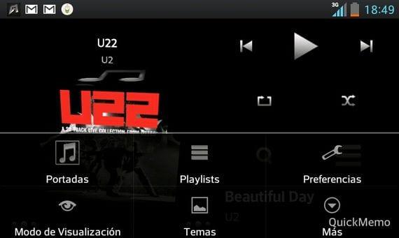 3 Cube Music Player, espectacular reproductor de música gratuito