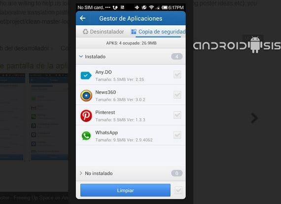 Clean Master, herramienta de sistema para tener limpio tu Android