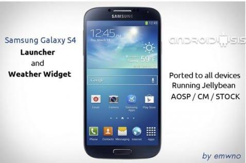 Launcher Samsung Galaxy S4 port para todos los dispositivos