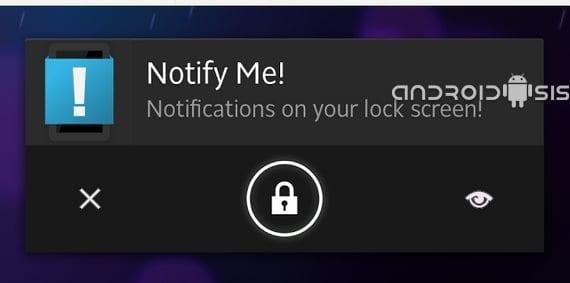 Notify Me!, notificaciones de cualquier app en tu pantalla de bloqueo