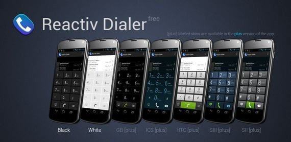 Reactiv Dialer Free, modificando el teclado de marcación de nuestro Android