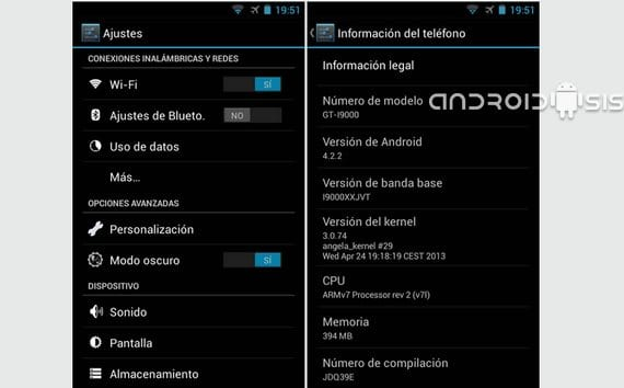 Samsung Galaxy S, rom JDQ39E Android 4.2.2 el regreso de Elitemóvil