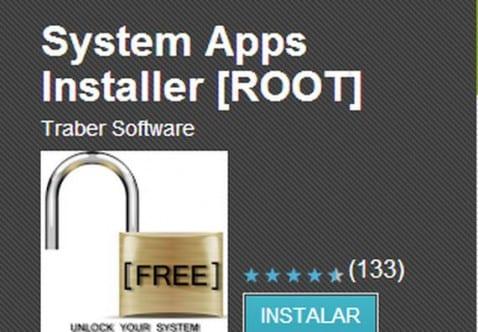 Cómo instalar aplicaciones en la partición reservada para el sistema usando System Apps Installer (ROOT)