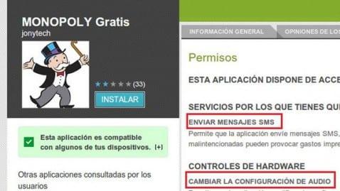 MONOPOLY Gratis para Android retirada del Play Store por estafa