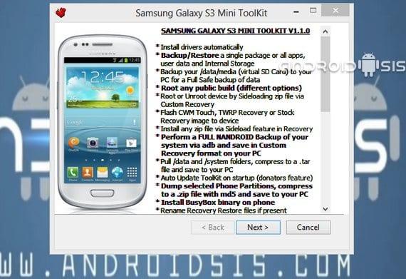 Samsung Galaxy S3 Mini, cómo rootear e instalar el recovery modificado CWM o TWRP