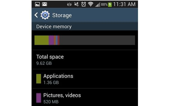 Samsung Galaxy S4, Samsung se compromete a liberar espacio de almacenamiento interno