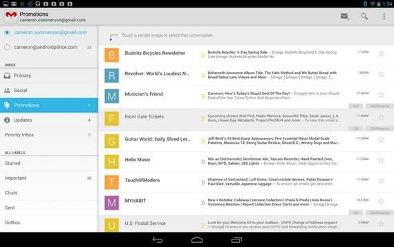 Cómo actualizar Gmail a la última versión, Gmail 4.5 con importantes mejoras