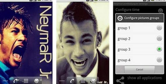 Descargar Neymar Live Walpapers para tu terminal Android