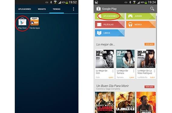 Google App Store y aspecto