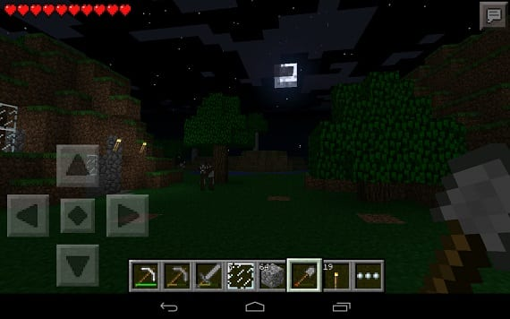 pocket 01 Sun, moon and stars in the new version 0.7.3 of Minecraft Pocket Edition