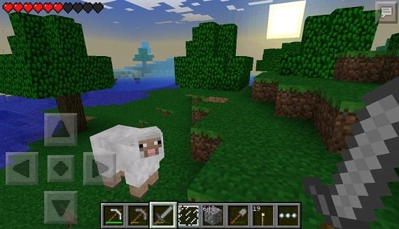 pocket 02 Sun, moon and stars in the new version 0.7.3 of Minecraft Pocket Edition