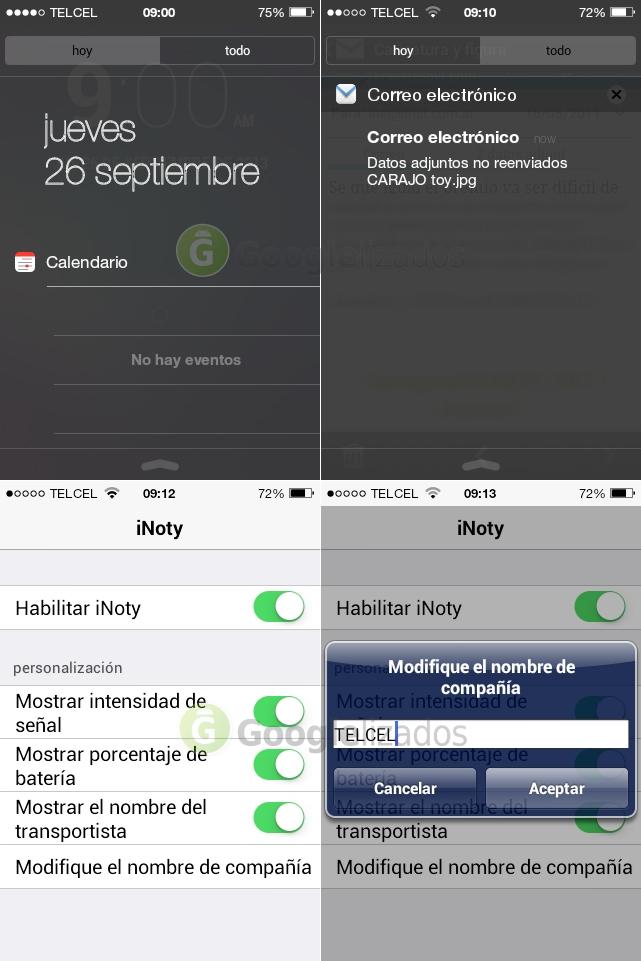 iNoty, notificaciones al estilo iOS7
