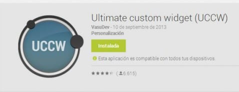 Aplicaciones increíbles para Android: Ultimate Custom Widget (UCCW)