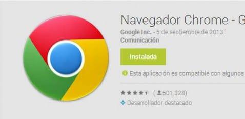Chrome beta 30 para Android causa reinicios esporádicos en varios dispositivos