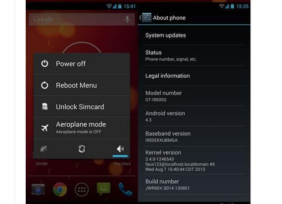 Cómo actualizar el Samsung Galaxy S4 a Android 4.3