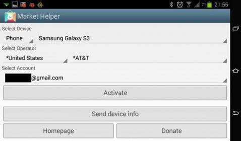 Cómo instalar aplicaciones no compatibles con nuestro dispositivo