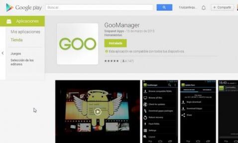 Cómo usar GooManager para actualizar tu Rom